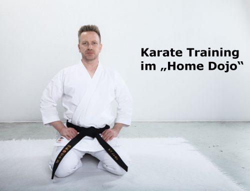 """Karate Training im """"Home Dojo"""" Montag Woche 2"""